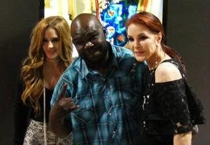 Lisa,Priscilla and a fan