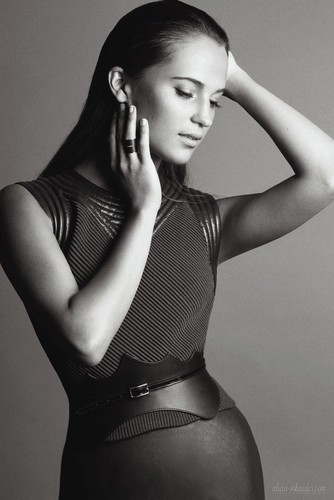 Alicia Vikander wallpaper with a leotard titled Madame Figaro 2015 photoshoot