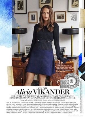 Magazine scans: Marie Claire US (March 2015)