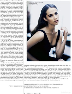 Magazine scans: Telegraph (January 2015)