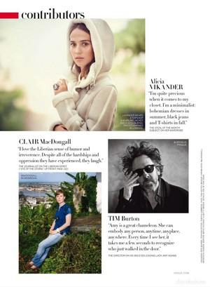 Magazine scans: Vogue US (December 2014)