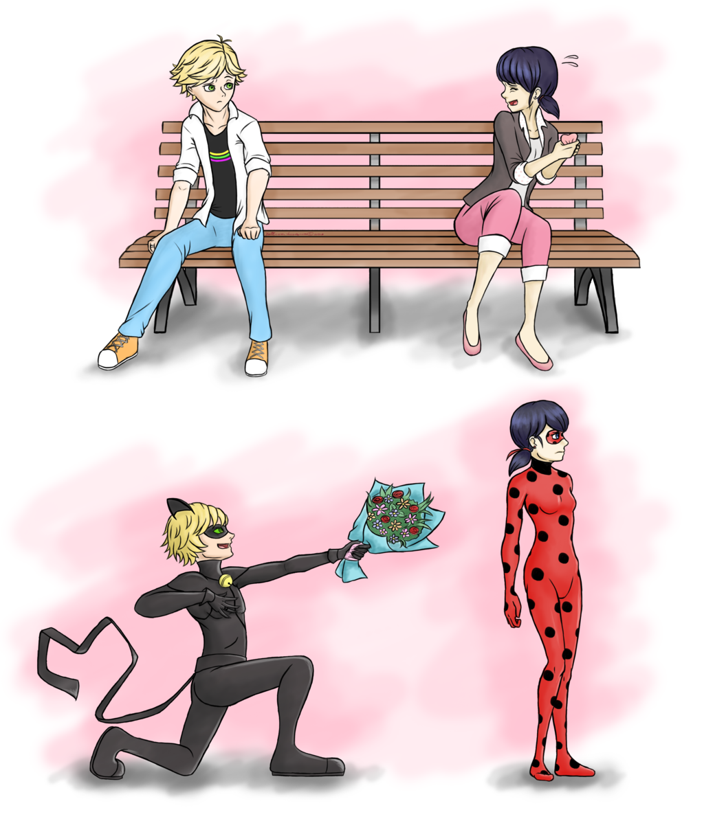 Marinette and Adrien - Chat Noir and Ladybug