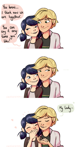 Miraculous Ladybug वॉलपेपर probably with ऐनीमे titled Marinette and Adrien