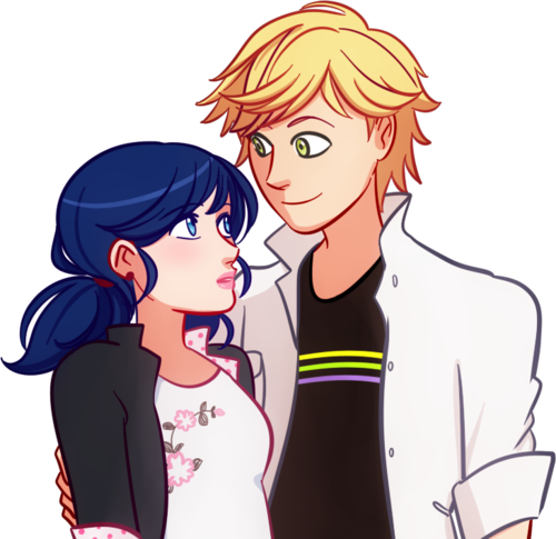 Miraculous Ladybug Hintergrund with Anime called Marinette and Adrien