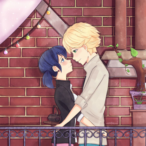 Miraculous Ladybug Hintergrund containing a sign titled Marinette and Adrien