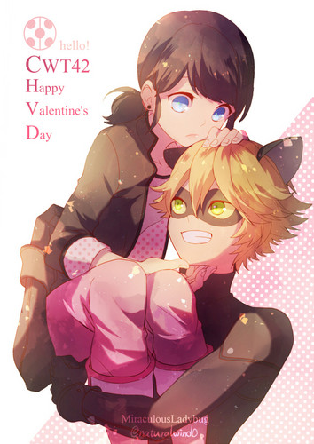 Miraculous Ladybug वॉलपेपर called Marinette and Chat Noir
