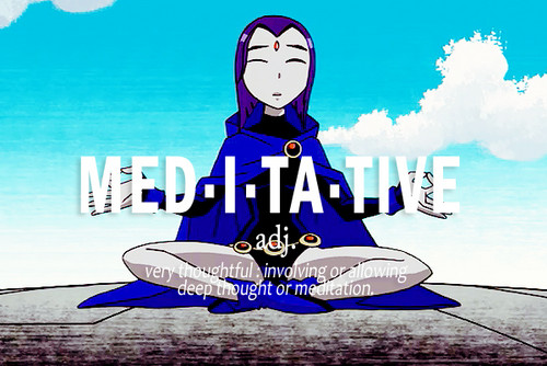Raven wallpaper possibly containing anime titled Meditate
