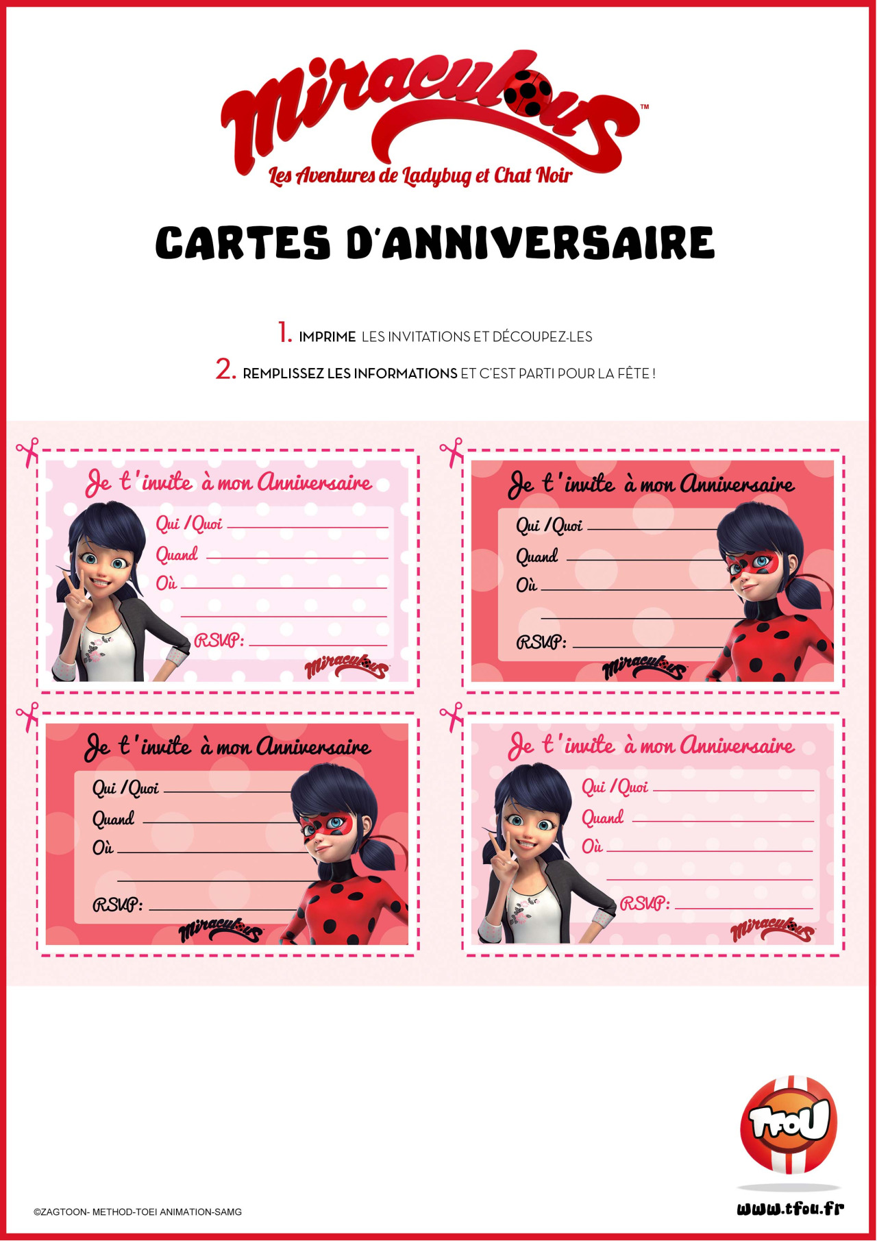 Miraculous Ladybug Activity Pages