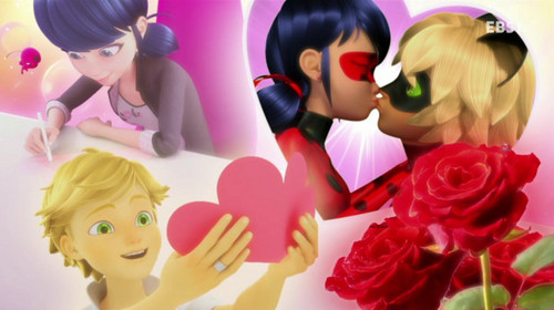 Miraculous Ladybug Обои possibly containing a bouquet called Miraculous Ladybug Ending Cards
