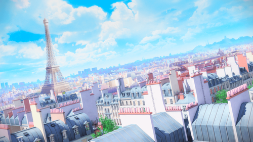 Miraculous Ladybug Hintergrund containing a business district and a wolkenkratzer entitled Miraculous Ladybug Scenery