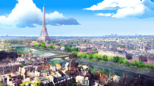 Miraculous Ladybug Hintergrund possibly containing a straße and a business district titled Miraculous Ladybug Scenery