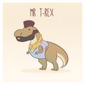 Mr T-Rex - dinosaurs fan art