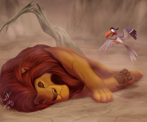 The Lion King Wallpaper Entitled Mufasas Death