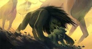 Mufasa saves Simba concept