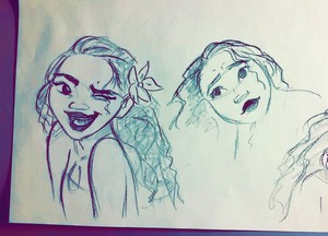 New official Moana drawing by Daniel Gonzales