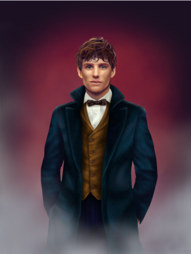 Fantastic Beasts and Where to Find Them wallpaper possibly containing a business suit, a well dressed person, and a suit entitled Newt Scamander fan Art
