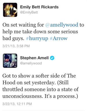 Old Stephen and Emily tweets