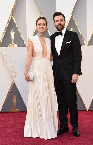 Olivia Wilde and Jason Sudeikis @ the 2016 Academy Awards