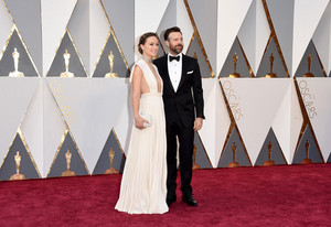 Olivia Wilde and Jason Sudeikis @ the 2016 Academy Awards