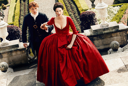 serial tv outlander 2014 wallpaper probably with a hoopskirt, a polonaise, and a kirtle, rok titled Outlander Season 2 First Look