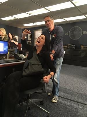 Paget is back!:) Set picture of Episode 11x09 of Criminal Minds