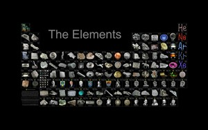 Periodic tavolo of the Elements wallpaper