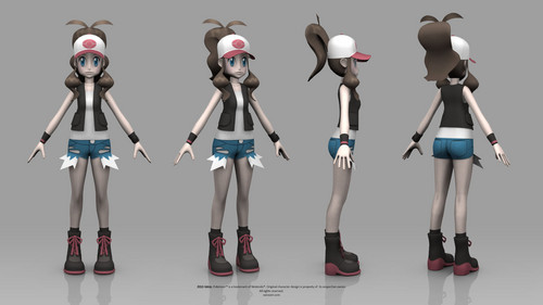 Pokémon wolpeyper called Pokémon Black and White Version - Hilda