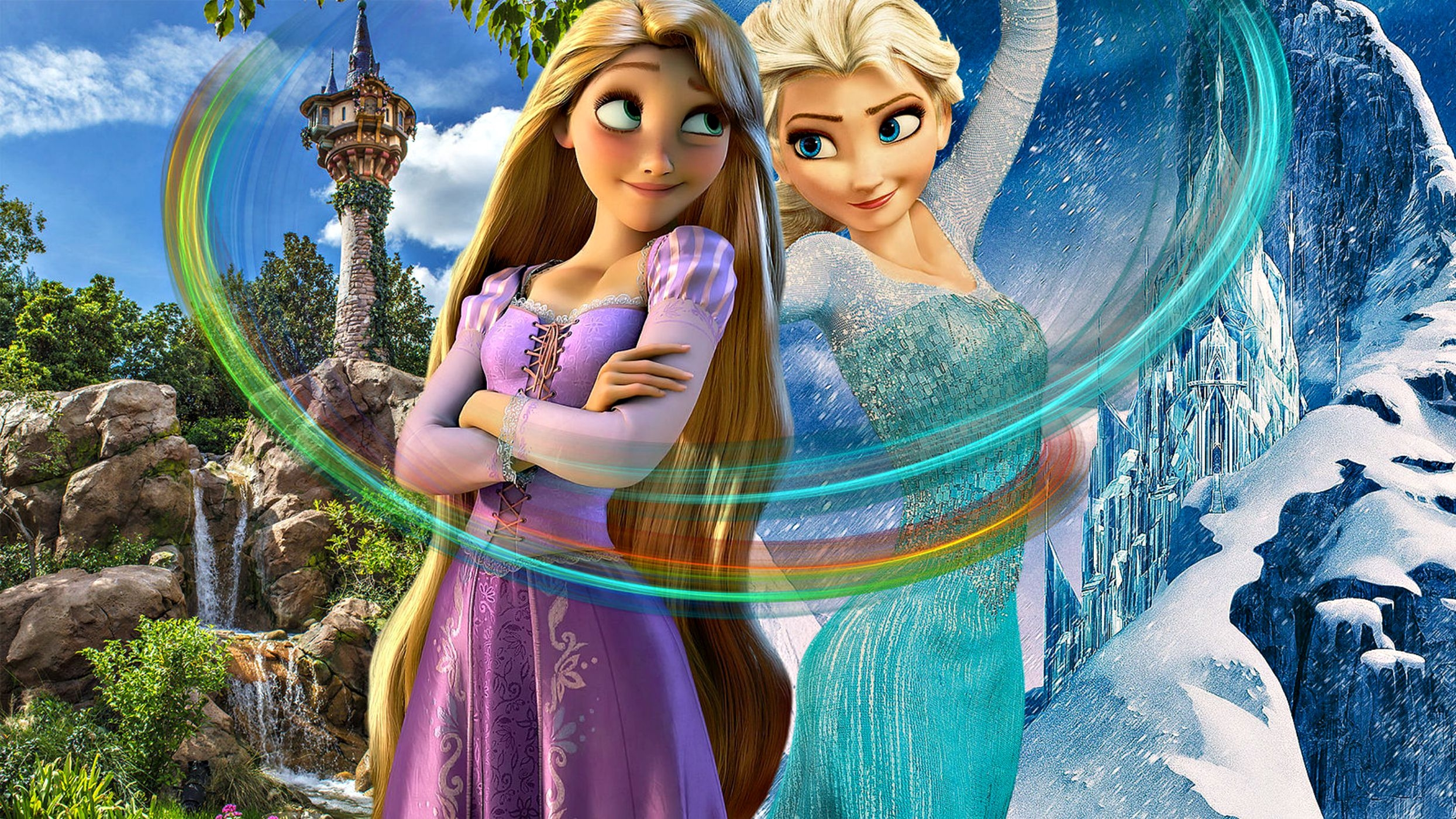 muians images rapunzel and elsa hd wallpaper and
