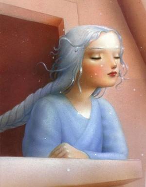 Rapunzel sa pamamagitan ng Nicoletta Ceccoli