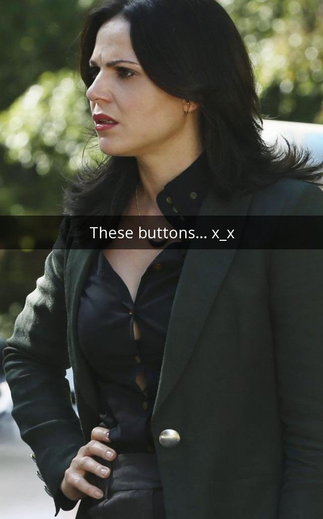 Regina's straining button(s) of everlasting promise