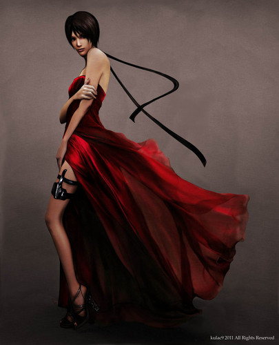 Resident Evil Hintergrund with a abendessen dress titled Resident Evil 4 | Ada Wong