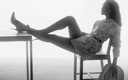 Rihanna wallpaper possibly containing skin called Rihanna British Vogue 2016