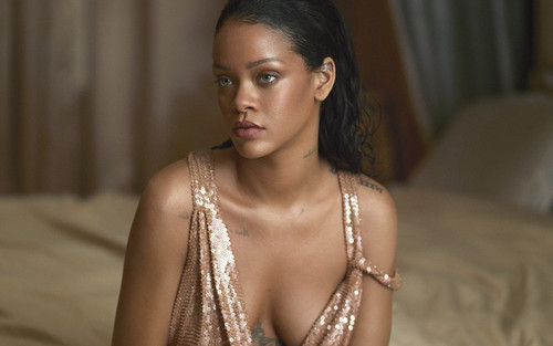Rihanna wallpaper probably containing a portrait entitled Rihanna Vogue US 2016