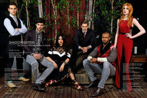 Shadowhunters TV Zeigen Hintergrund possibly with a business suit and a well dressed person called Shadowhunters cast for Regard Magazine