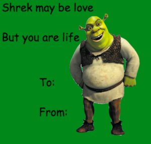 Sherk Valentines دن E cards