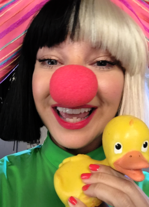 Sia made a new friend in Rubber Duckie