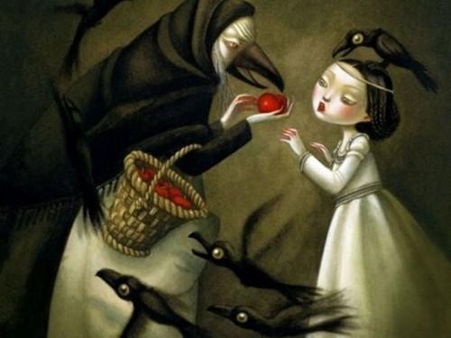 Grimm's Fairy Tales wallpaper titled Snow White by Nicoletta Ceccoli