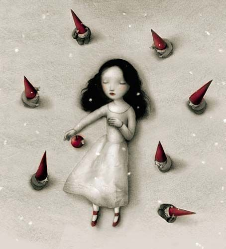 Grimm's Fairy Tales wallpaper titled Snow White by Nicoletta Ceccoli