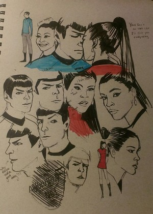 Spock and Uhura studies sejak murrmernator