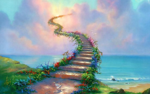 Fantasy Wallpaper Titled Stairway To Heaven