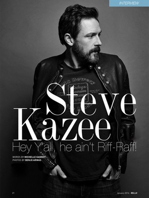 Steve Kazee for Bello Magazine