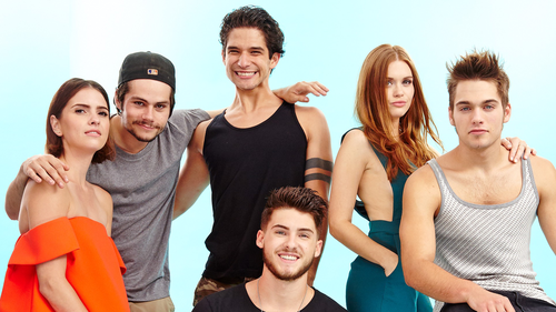 Tyler Posey wallpaper probably containing a portrait called Teen Wolf Cast