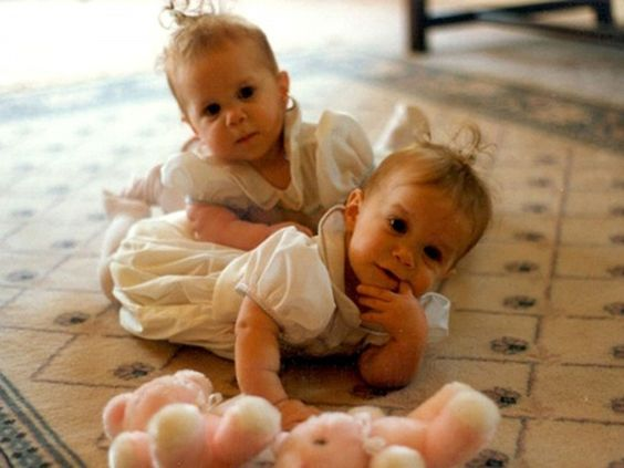 The Olsen twins as babies