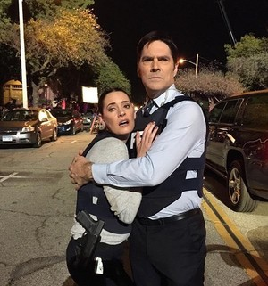 Thomas and Paget on set of Episode 11x09 :))