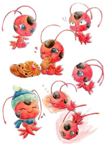 Miraculous Ladybug Hintergrund titled Tikki