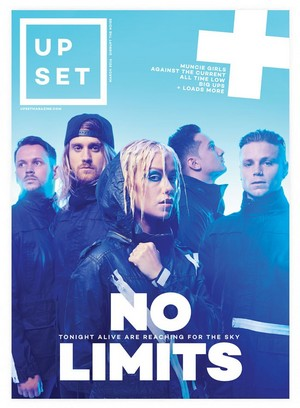 Tonight Alive in Upset Magazine Cover