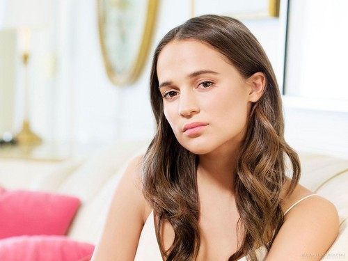 Alicia Vikander wallpaper with a portrait, attractiveness, and skin entitled USA Today 2015 photoshoot