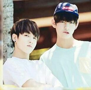 "VKook (BTS) wallpaper called V/ Kookie *-**""˜˜""*°•.ƸӜƷ"