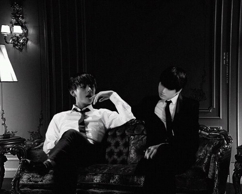 "VKook (BTS) wallpaper possibly containing a drawing room, a living room, and a business suit titled V/ Kookie *-**""˜˜""*°•.ƸӜƷ"