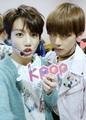 "V/Kookie°*""˜˜""*°•.ƸӜƷ - vkook-bts photo"